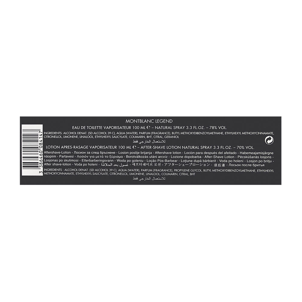 Buy Legend By Montblanc Online Parfum Original Mont Blanc For Men 100ml 2 Piece Set Includes 33 Oz Eau De Toilette Spray After Shave Splash Glass Bottle