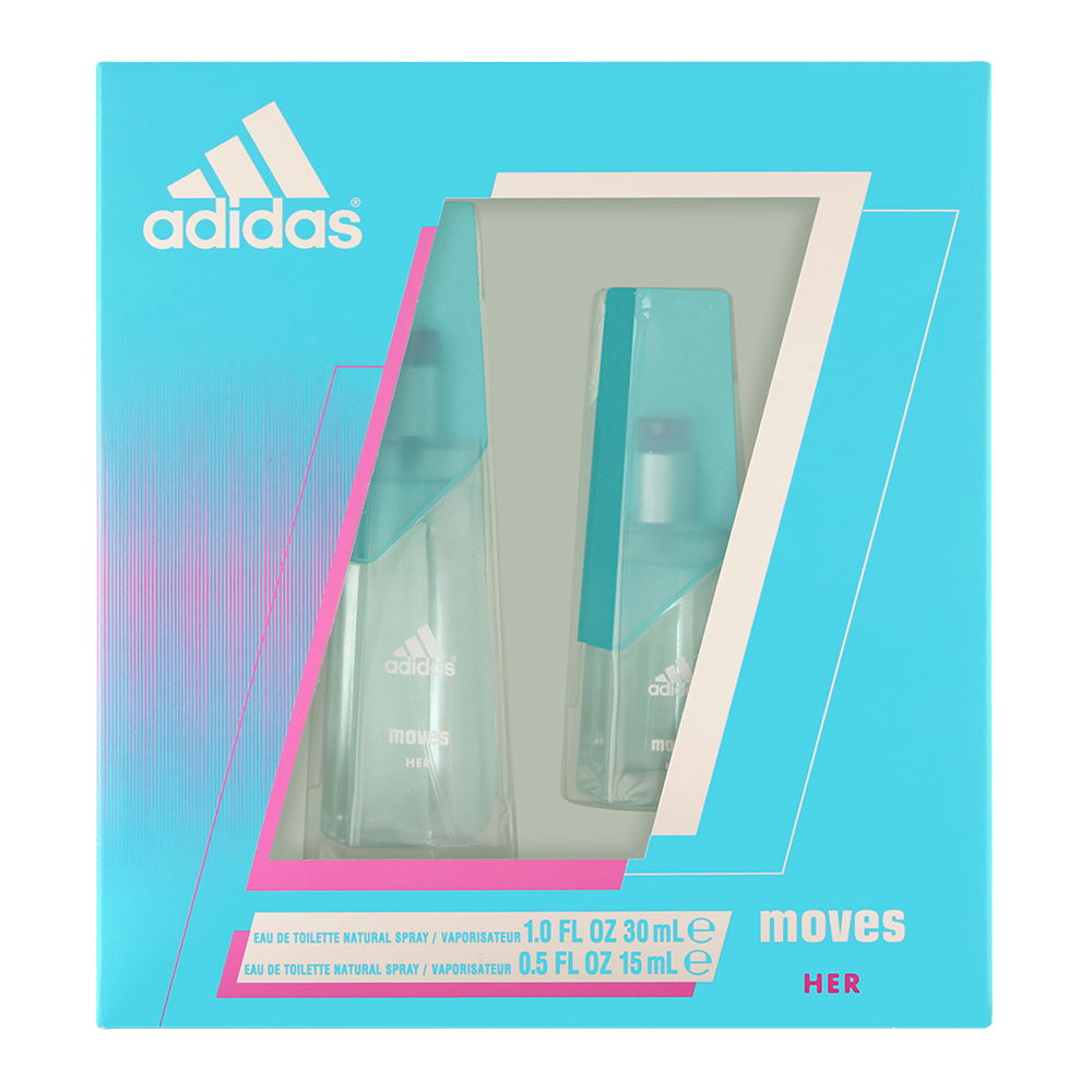 Adidas Moves by Coty for Women 1.0oz EDT Spray Shower Gel Gift Set