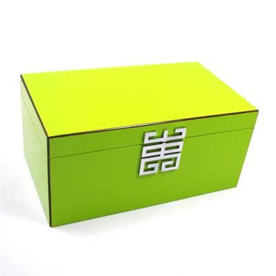 Seya Green Lacquer Jewelry Box