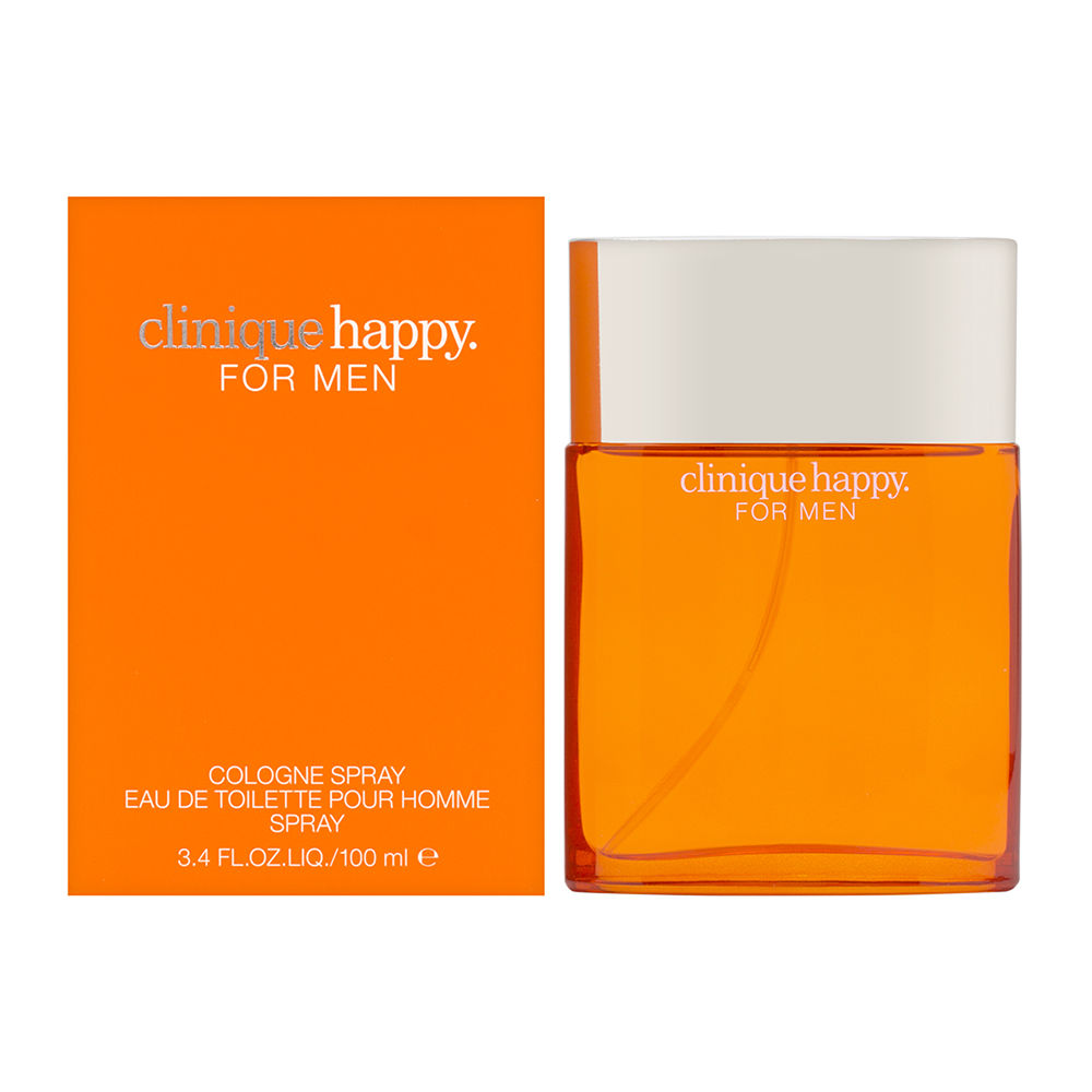 Happy by Clinique for Men 3.4oz Cologne Spray Shower Gel