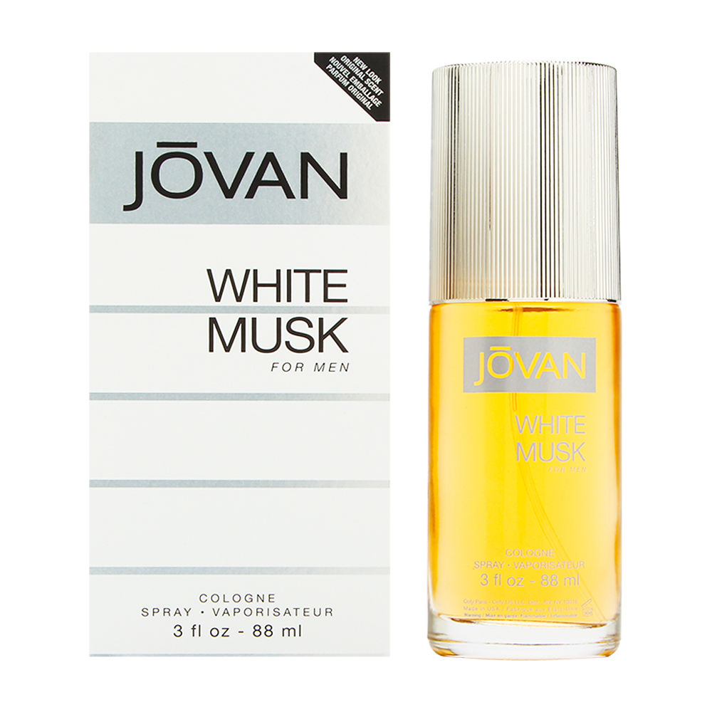 Jovan White Musk by Coty for Men 3.0oz Cologne Spray Shower Gel