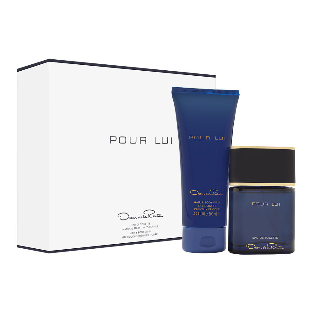 Oscar Pour Lui by Oscar de la Renta for Men 3.0oz EDT Spray Body Wash Shower Gel Gift Set