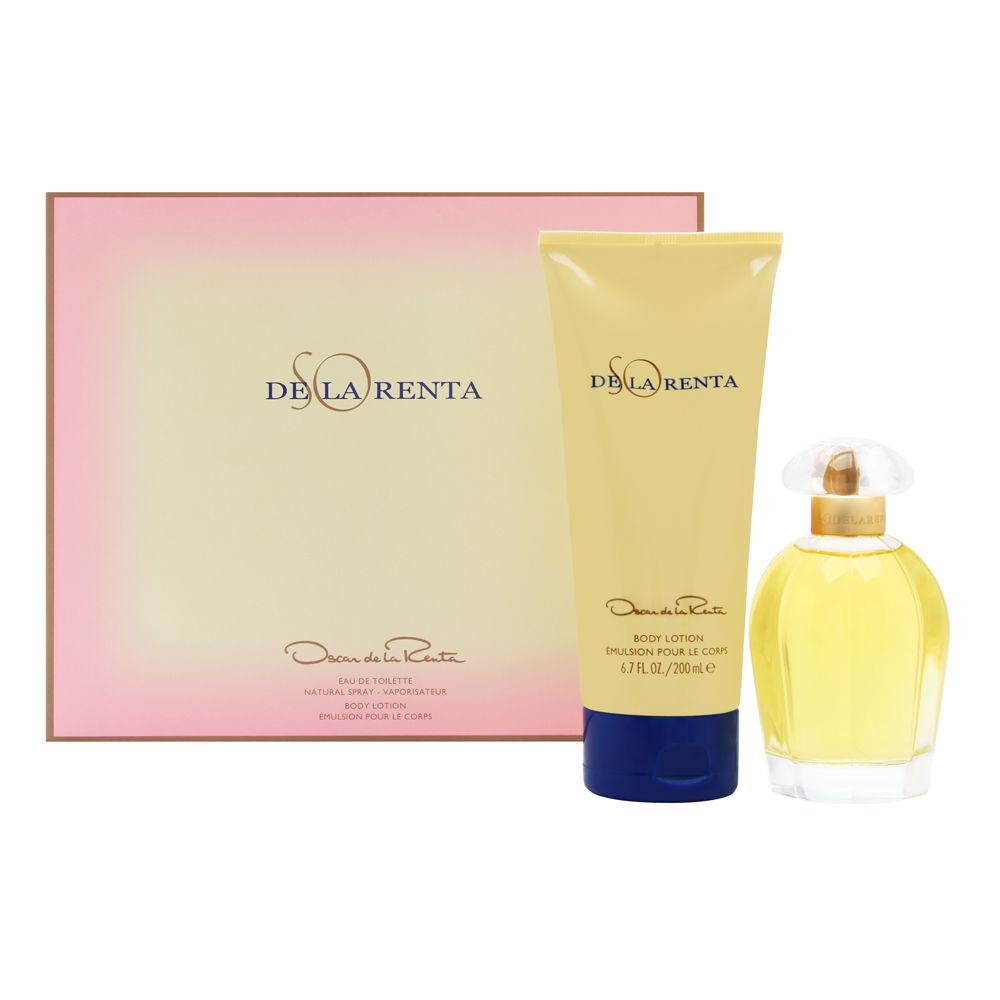 So de la Renta by Oscar de la Renta for Women 3.4oz EDT Spray Body Lotion Gift Set