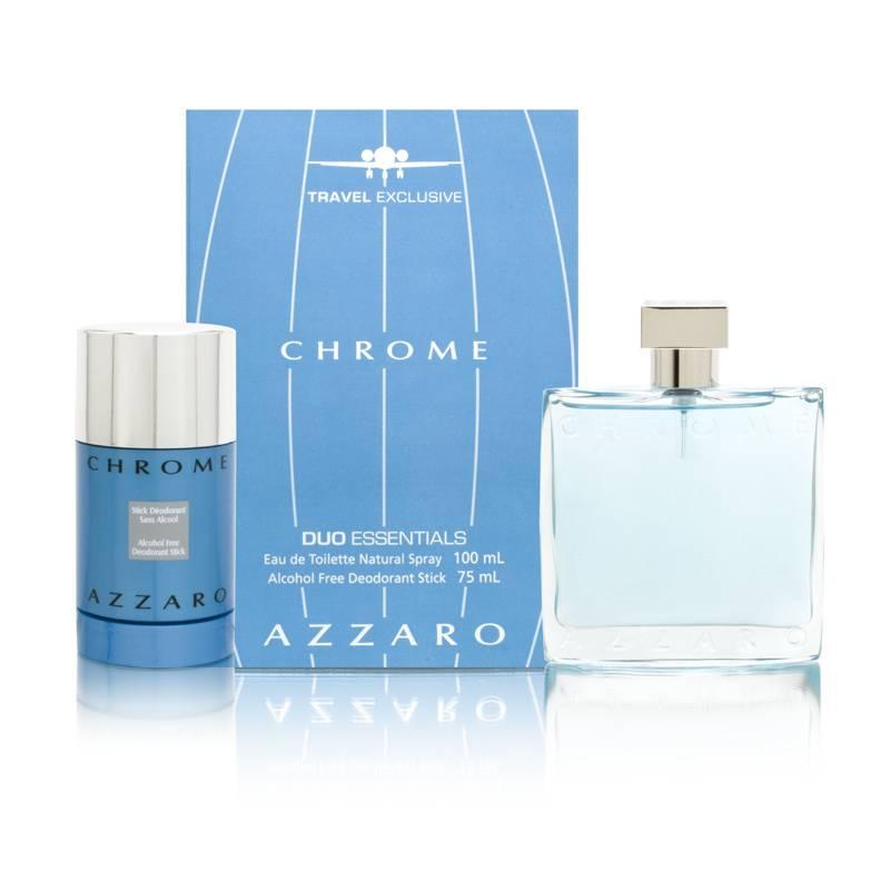 Chrome by Loris Azzaro for Men 3.4oz EDT Spray Deodorant Stick Gift Set