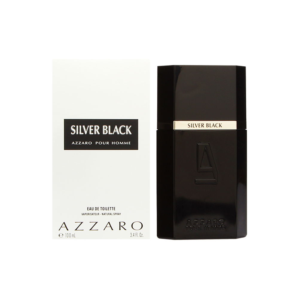 Azzaro Silver Black by Loris Azzaro for Men 3.4oz EDT Spray Shower Gel