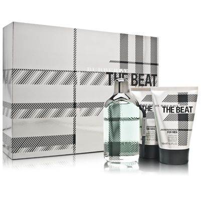 Burberry The Beat by Burberry for Men 3.3oz EDT Spray Aftershave Shower Gel Gift Set