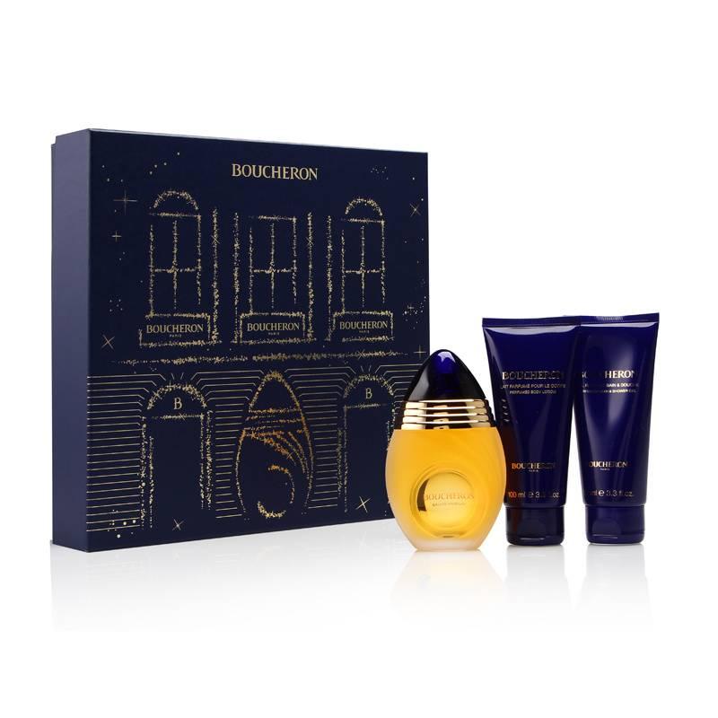 Boucheron Pour Femme by Boucheron 3.3oz EDP Spray Body Lotion Shower Gel Gift Set