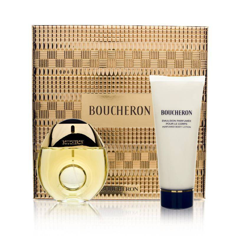 Boucheron Pour Femme by Boucheron 1.6oz EDT Spray Body Lotion Gift Set