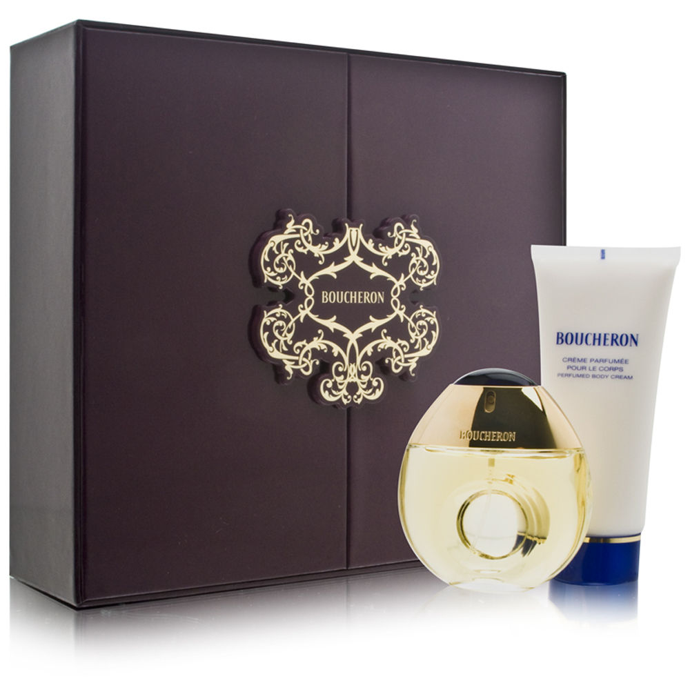 Boucheron Pour Femme by Boucheron 1.6oz EDT Spray Body Cream Gift Set