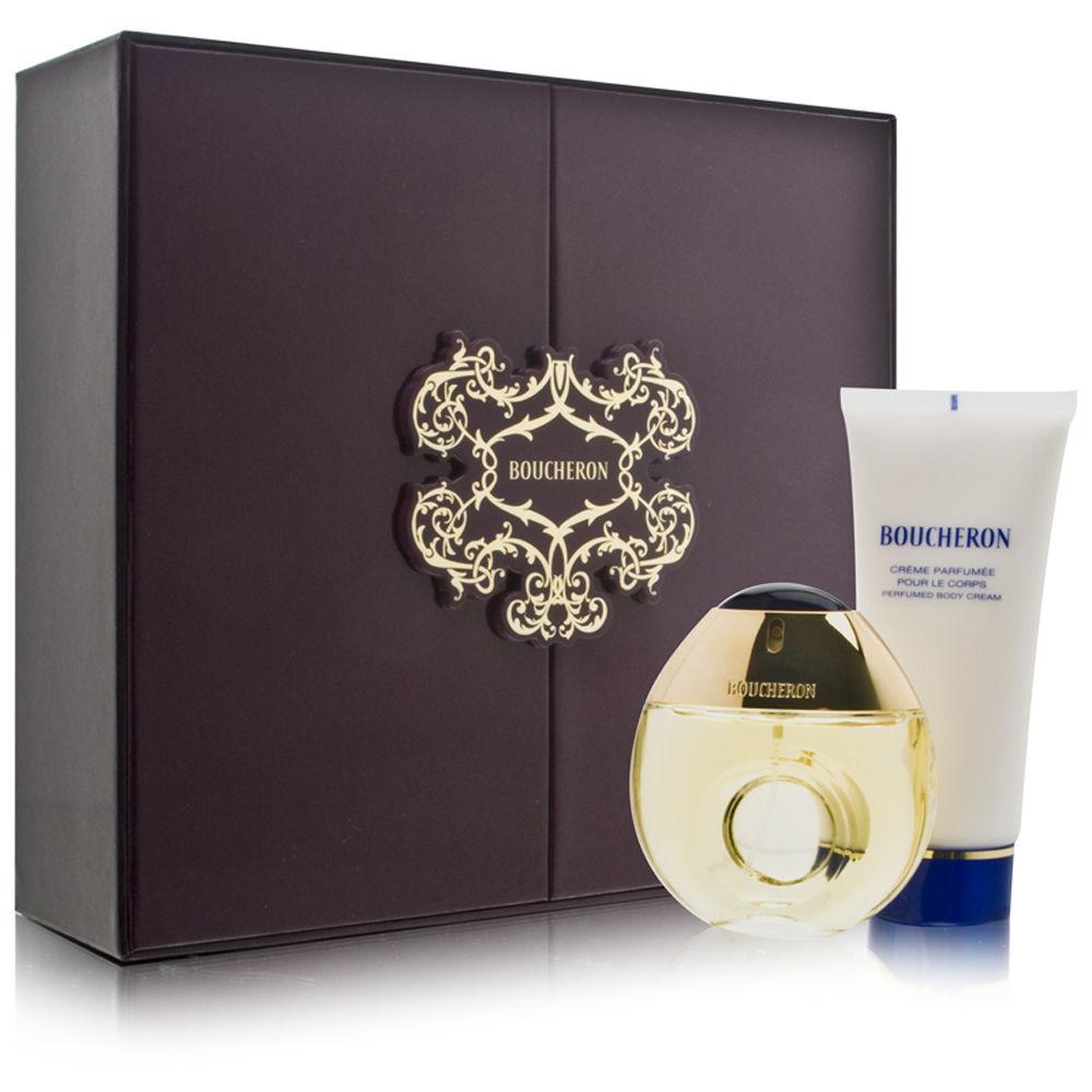 Boucheron Pour Femme by Boucheron 1.6oz EDT Spray Body Cream Gift Set