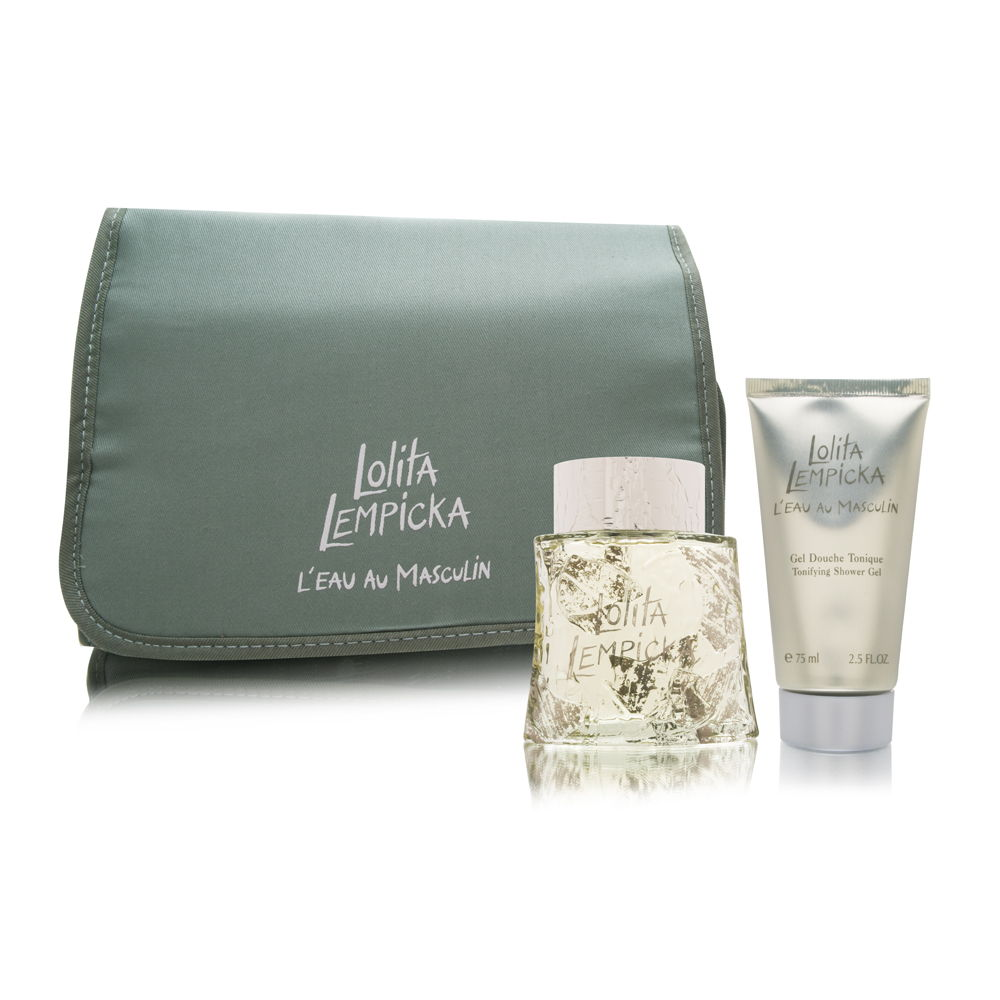 Lolita Lempicka Au Masculin by Lolita Lempicka for Men 3.4oz EDT Spray Shower Gel Gift Set