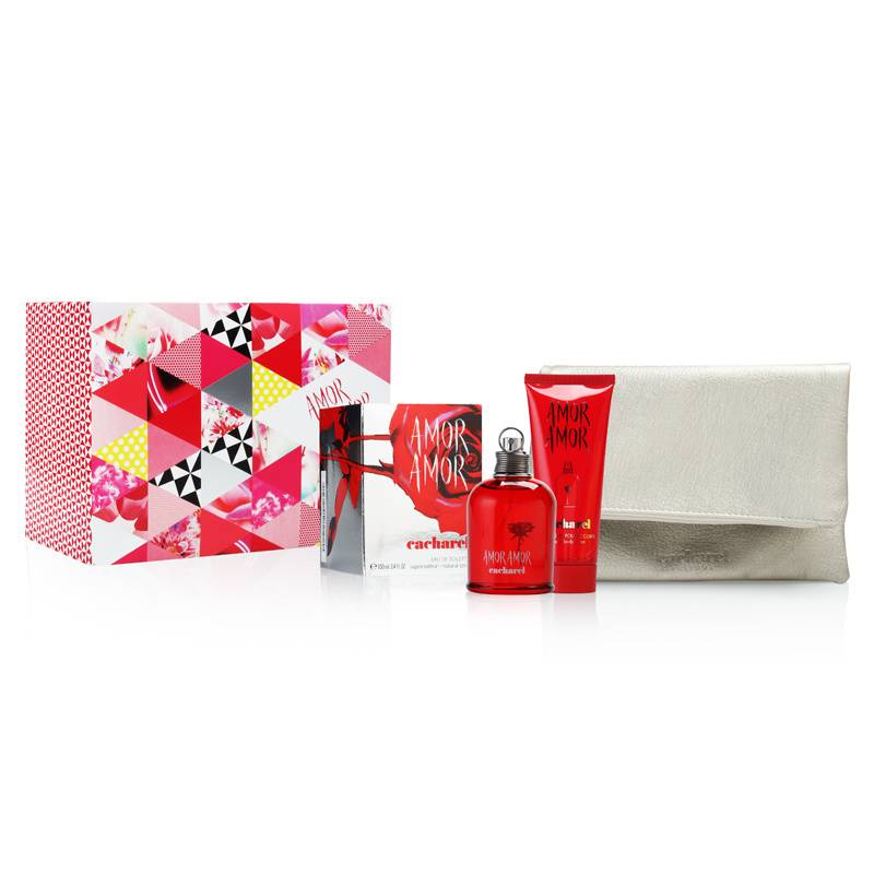 Amor Amor by Cacharel for Women 3.4oz EDT Spray Body Lotion Gift Set