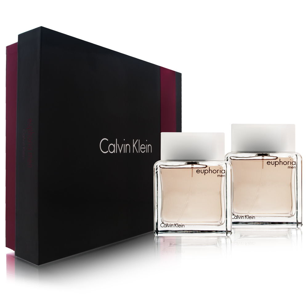 Euphoria Men by Calvin Klein 3.4oz EDT Spray Aftershave Gift Set