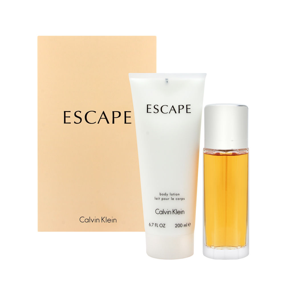 Coty Escape by Calvin Klein for Women 3.4oz EDP Spray Body Lotion Gift Set