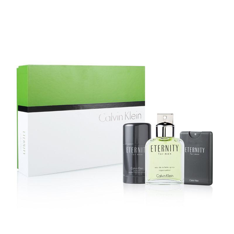 Coty Eternity by Calvin Klein for Men 3.4oz EDT Spray Deodorant Stick Gift Set