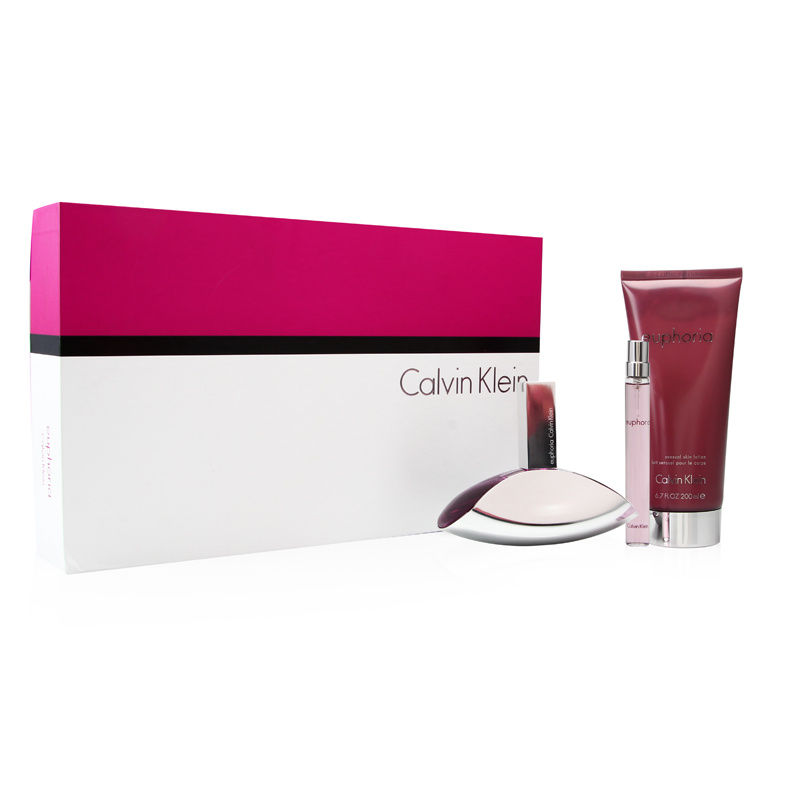 Coty Euphoria by Calvin Klein for Women 3.4oz EDP Spray Gift Set