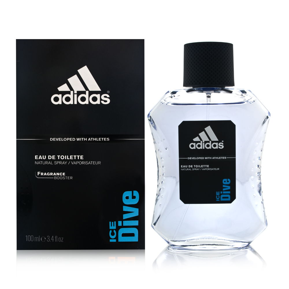 Adidas Ice Dive by Coty for Men 3.4oz EDT Spray Shower Gel