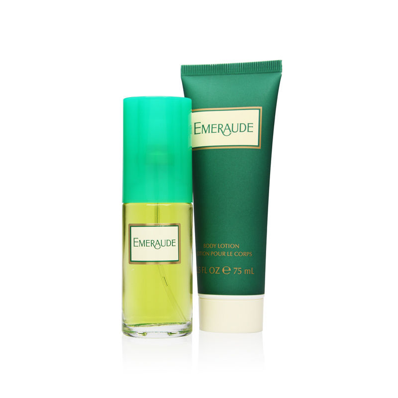 Emeraude by Coty for Women 1.0oz Cologne Spray Body Lotion Gift Set