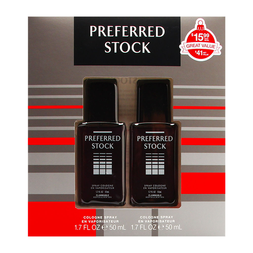 Preferred Stock by Coty for Men 1.7oz Cologne Spray Shower Gel Gift Set