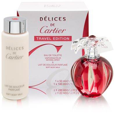 Delices de Cartier for Women 1.6oz EDT Spray Gift Set