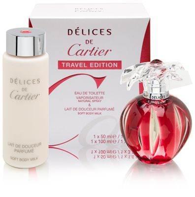 Delices de Cartier for Women 1.6oz EDT Spray Gift Set