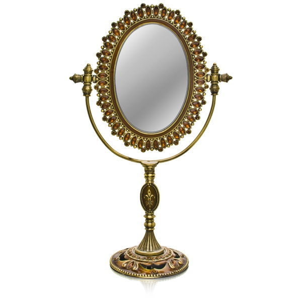Welforth Jeweled Mirror (Teardrops with Orange Rhinestones) M-054 at Sears.com