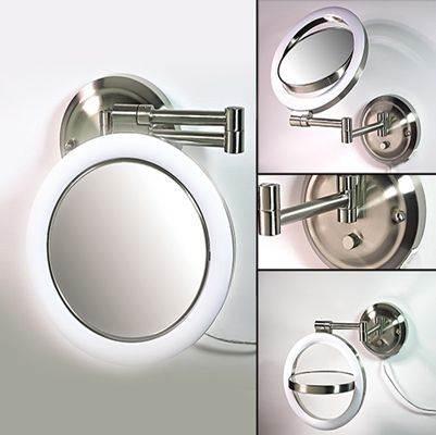 Zadro Dimmable Sunlight Wall Mirror (10X, 1X)