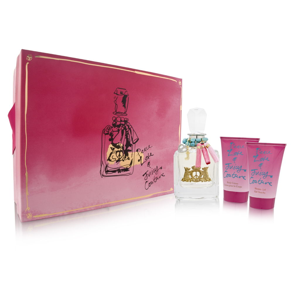 Peace Love & Juicy Couture by Juicy Couture for Women 1.7oz EDP Spray Shower Gel Gift Set