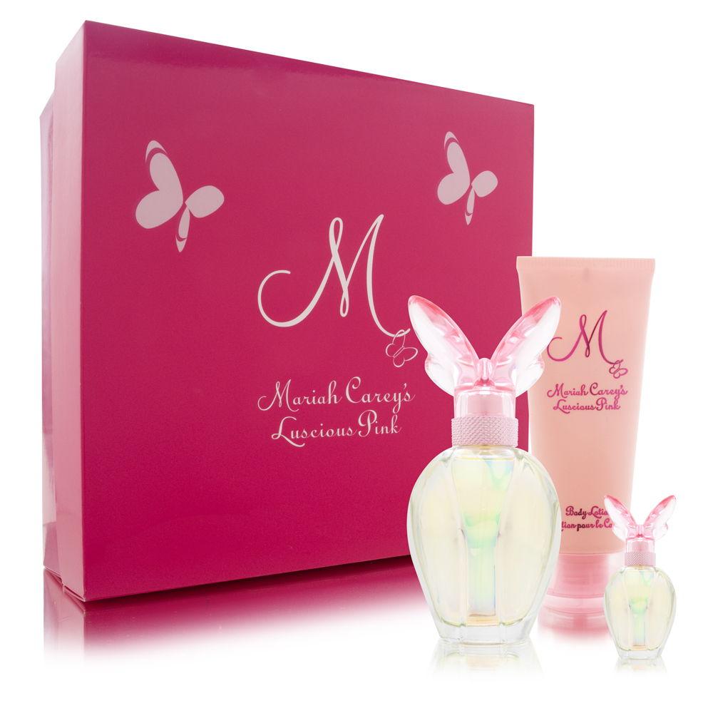 M BY MARIAH CAREY LUSCIOUS PINK by Mariah Carey SET-EAU DE PARFUM SPRAY 1.7 OZ & BODY LOTION 3.3 OZ & EAU DE PARFUM .16 OZ MINI for WOMEN