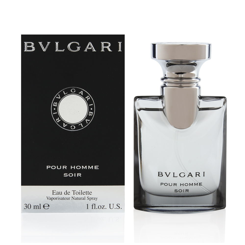 Bvlgari Pour Homme Soir by Bvlgari for Men 1.0oz EDT Spray Shower Gel
