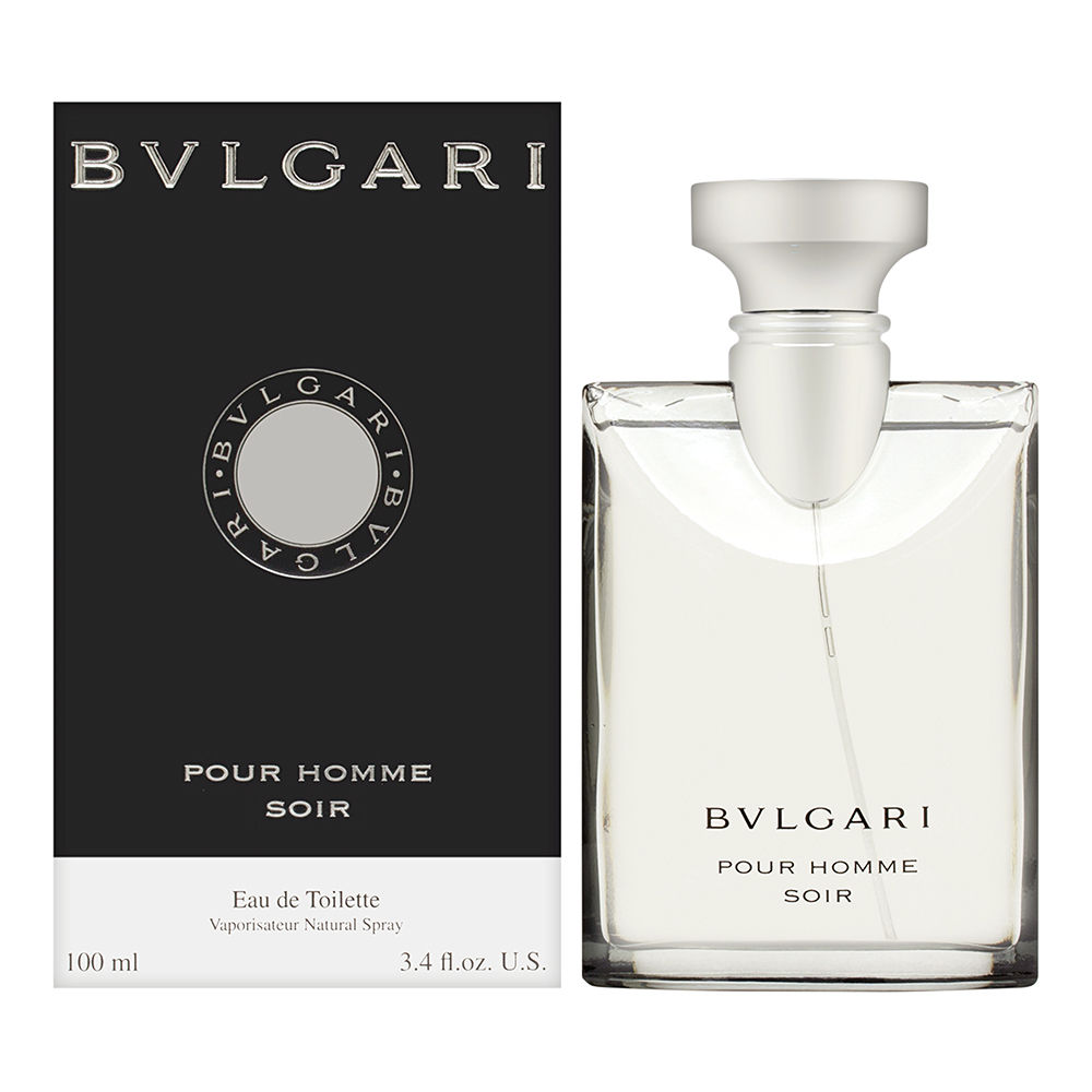 Bvlgari Pour Homme Soir by Bvlgari for Men 3.4oz EDT Spray Shower Gel