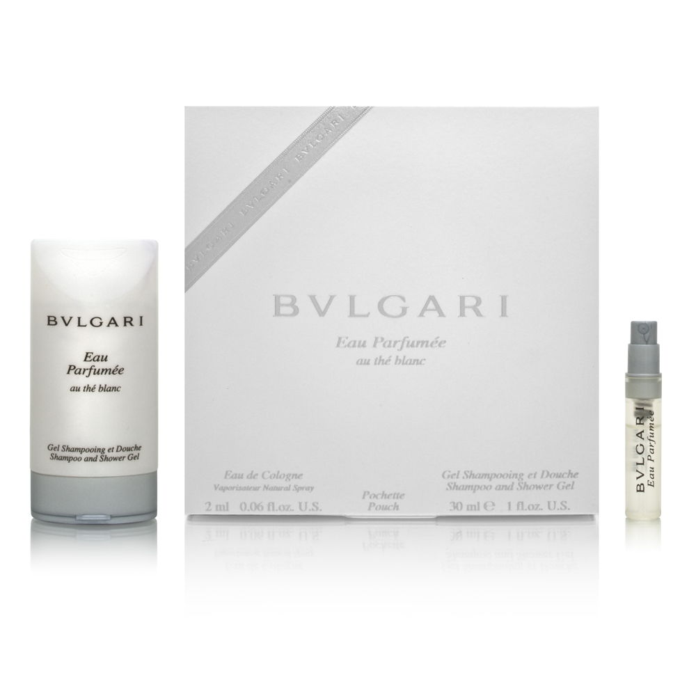 Bvlgari Eau Parfumee Au The Blanc by Bvlgari 0.06oz Cologne EDC Spray Shower Gel