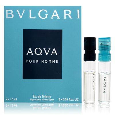 Bvlgari Vial Duo Pour Homme 0.05oz Cologne EDT Spray
