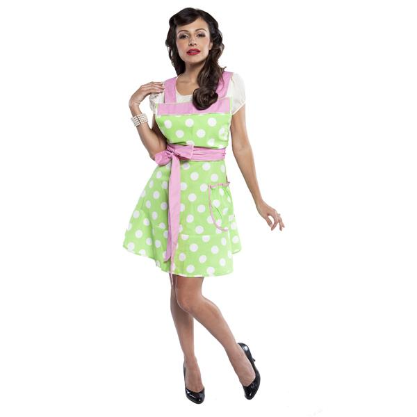 Grandway Honduras The Betty Designer Apron Green White Dot with Pink Ties at Sears.com