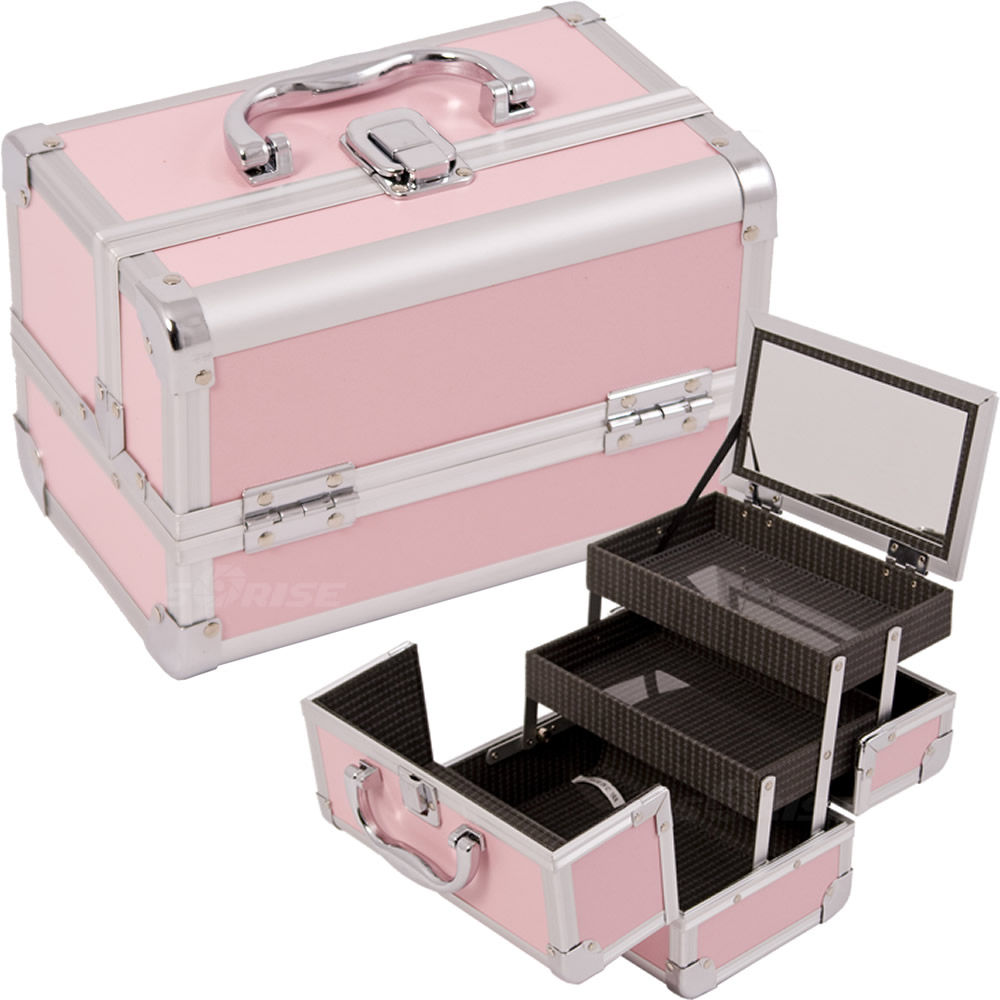 Justcase M1001PPPK Pink Makeup Case With Mirror