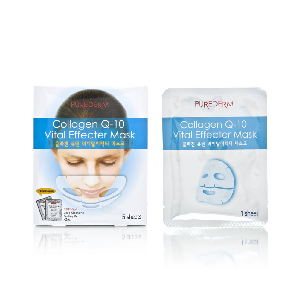 Purederm Collagen Q-10 Vital Effecter Mask