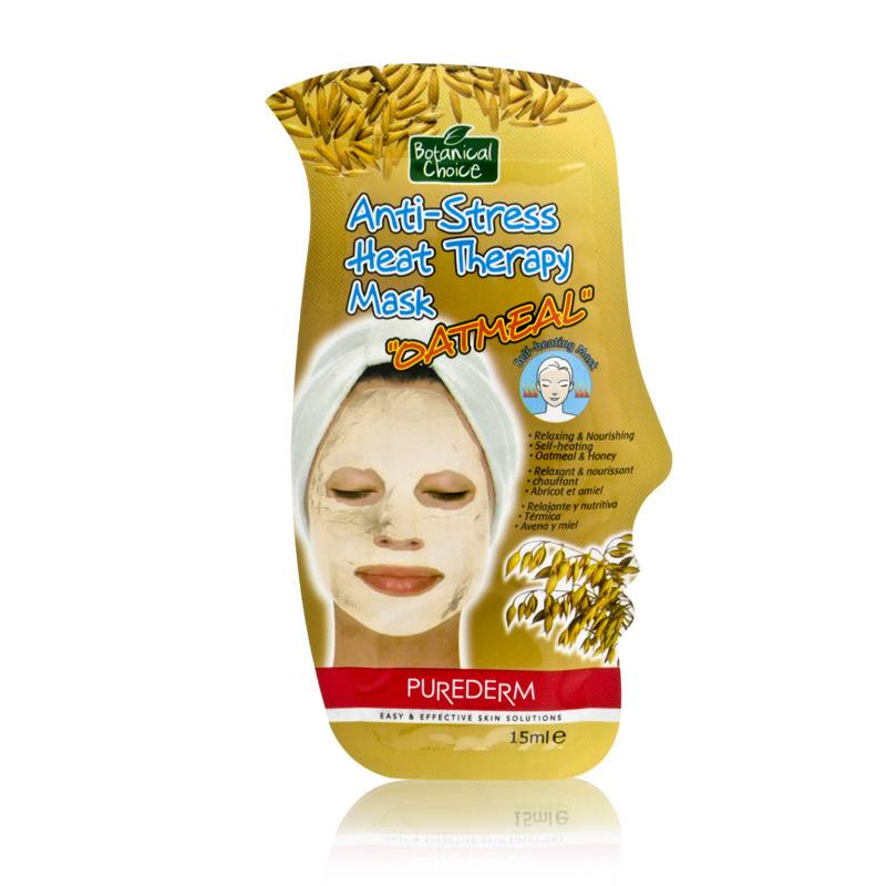 Purederm Botanical Choice Anti-Stress Heat Therapy Mask - Oatmeal