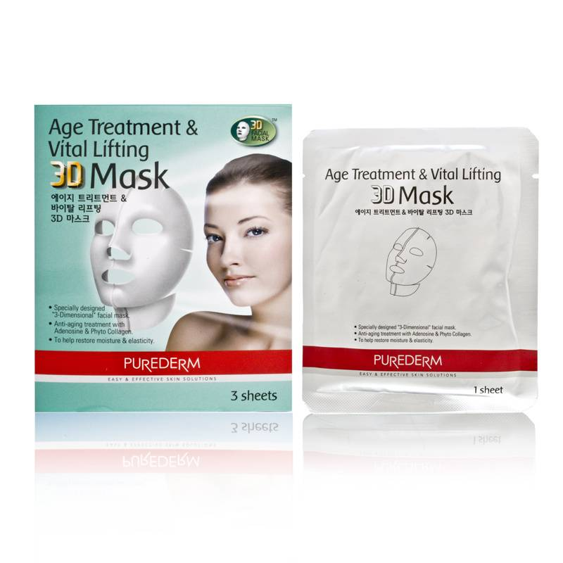 Purederm Age Treatment & Vital Lifting 3D Mask