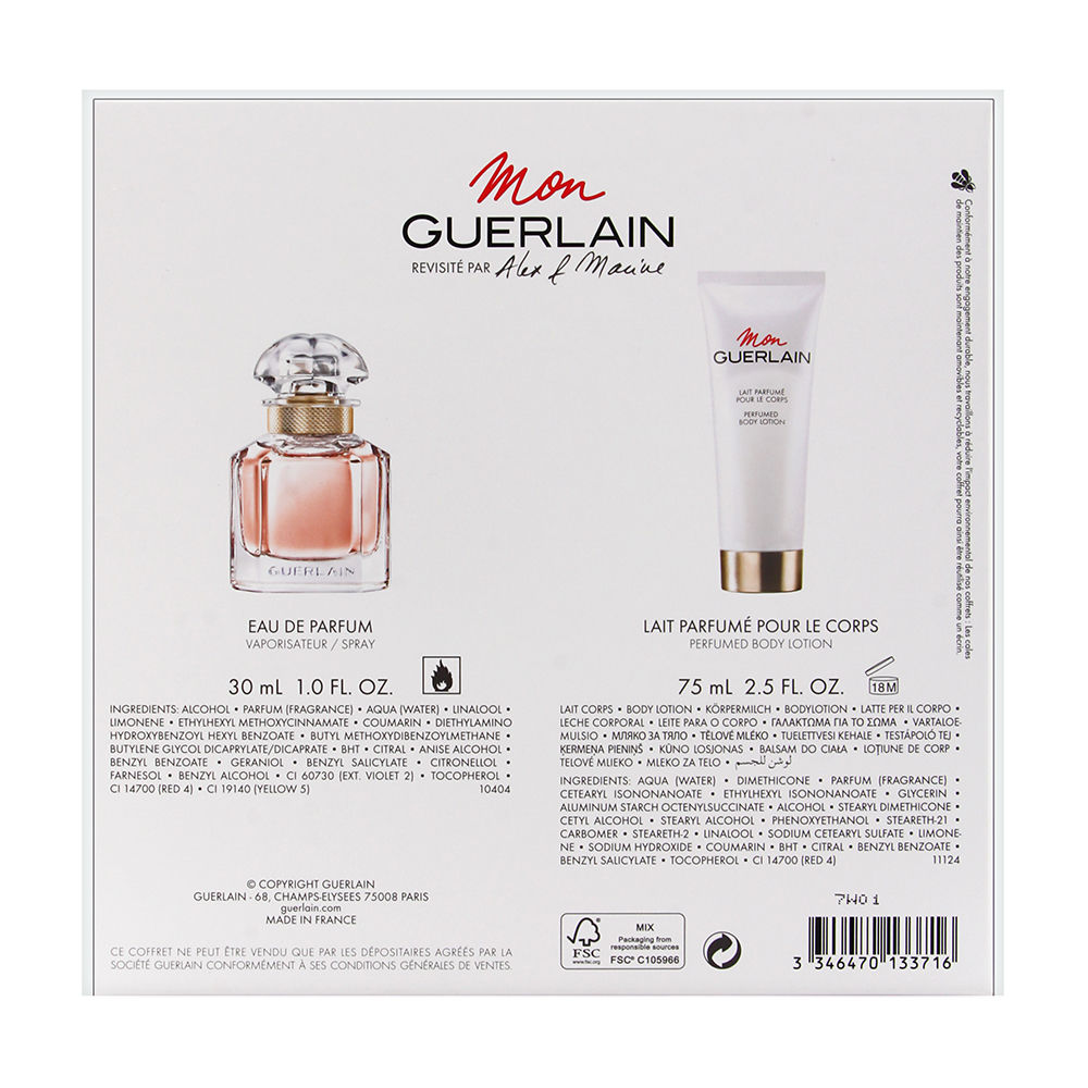 Mon Guerlain by Guerlain for Women 1oz EDP Spray Body Lotion Gift Set