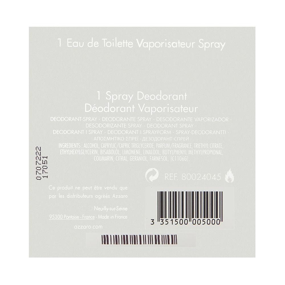 Chrome by Loris Azzaro for Men 3.4oz EDT Spray Deodorant Spray Gift Set