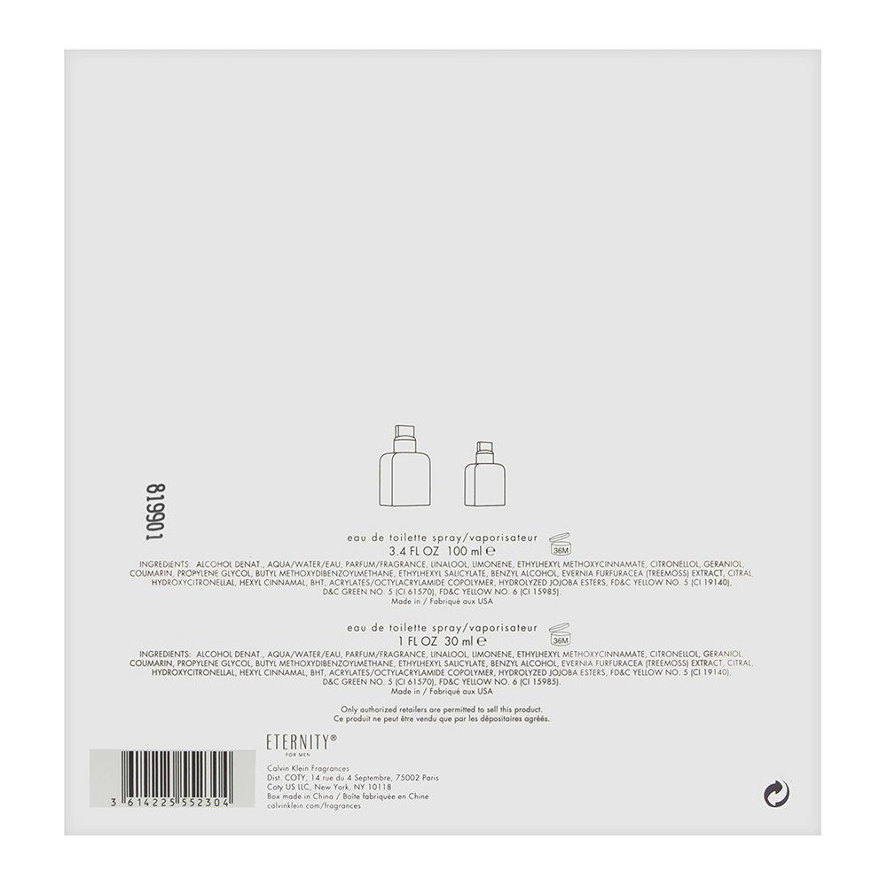 Coty Eternity by Calvin Klein for Men 3.4oz EDT Spray Gift Set