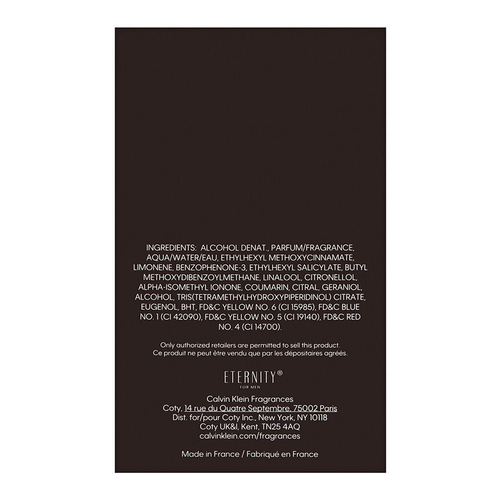 Coty Eternity by Calvin Klein for Men 3.3oz EDP Spray Shower Gel