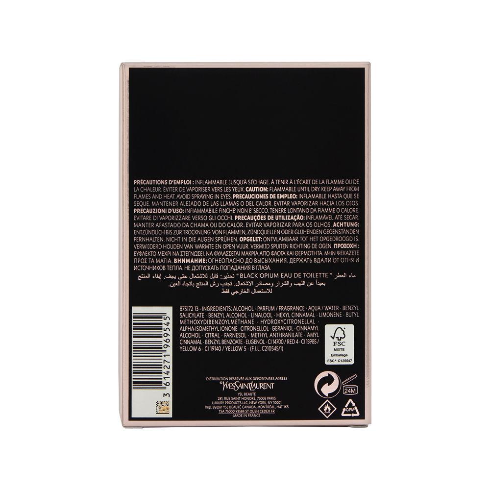 LVMH Black Opium by Yves Saint Laurent for Women 3.0oz EDT Spray