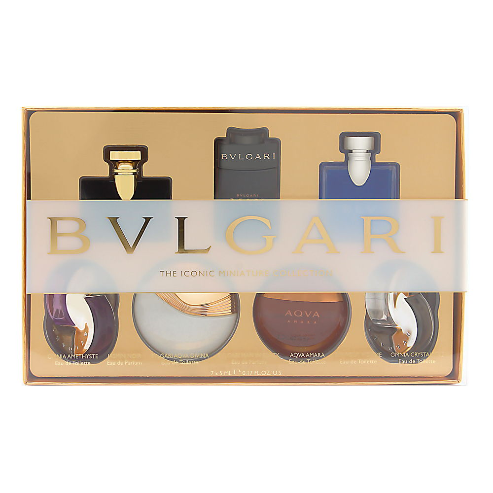 Bvlgari Miniature Collection  men 0.17oz EDP EDT Gift Set
