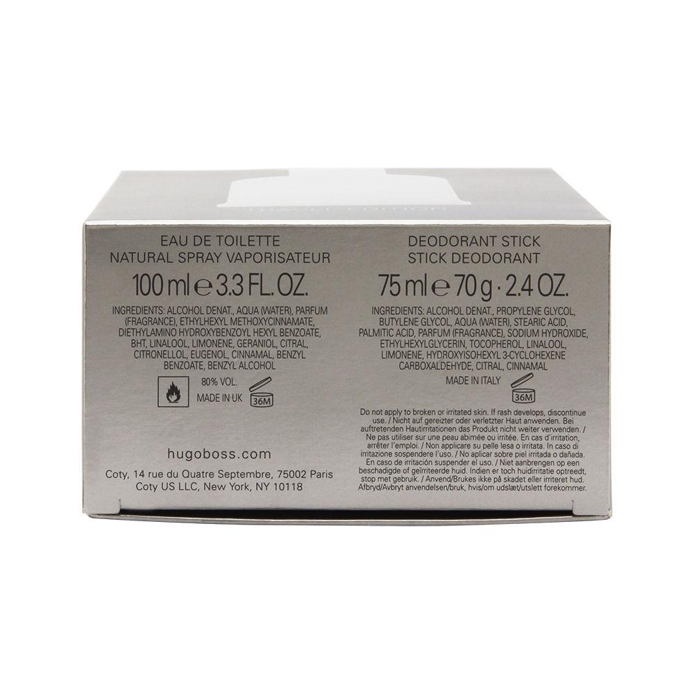 Boss Bottled No. 6 by Hugo Boss for Men 3.3oz EDT Spray Deodorant Stick Gift Set