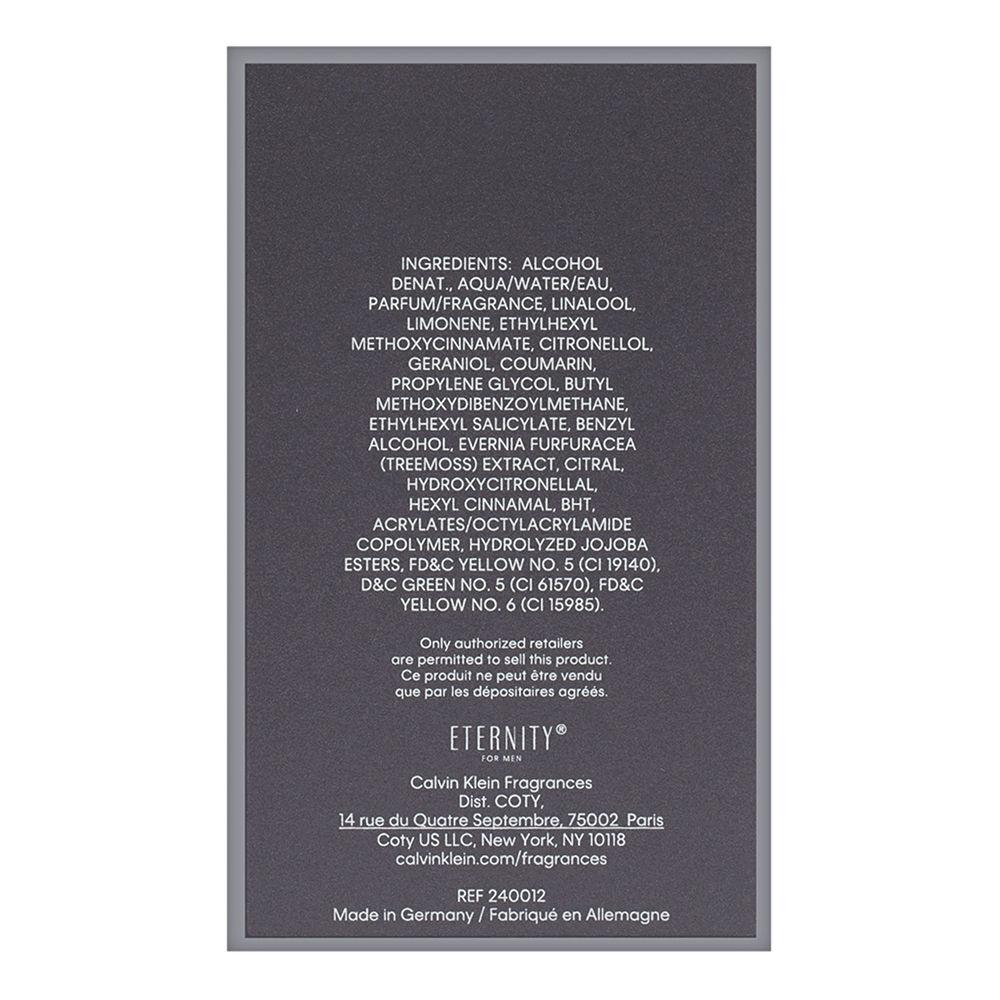 Coty Eternity by Calvin Klein for Men 3.3oz EDT Spray Shower Gel