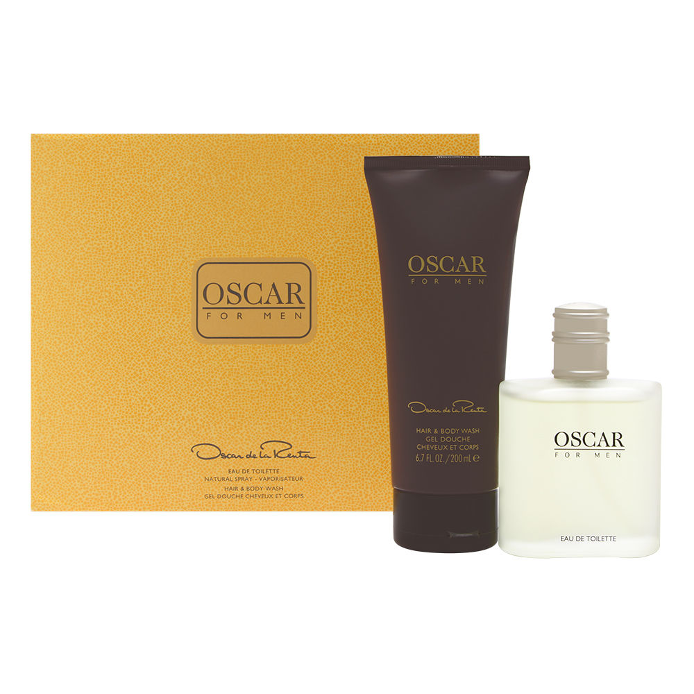 Oscar For Men by Oscar de la Renta for Men 3.4oz EDT Spray Body Wash Gift Set