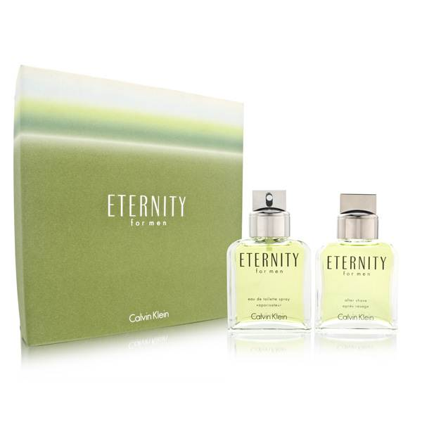 Eternity by Calvin Klein for Men 3.4oz EDT Spray Aftershave Gift Set