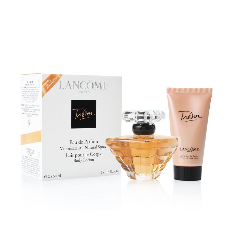 Tresor by Lancome for Women 1.7oz EDP Spray Body Lotion Gift Set