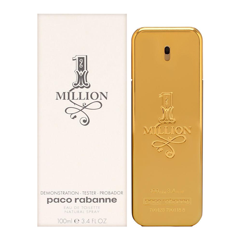 Puig 1 Million by Paco Rabanne for Men 3.4oz Cologne EDT Spray (Tester) Shower Gel